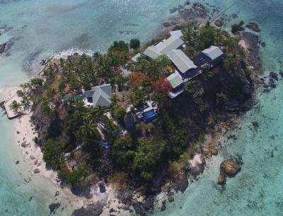Aerial view of Wadigi Island